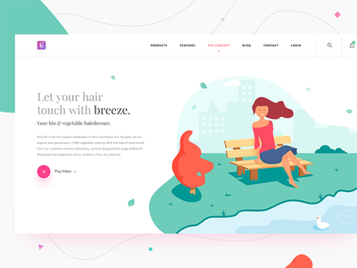 Hair salon - concept landing page