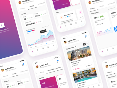 Hotel Management Dashboard iPhoneX hotel dashboard booking charts menu notification iphonex app analytics data visualization admin automation