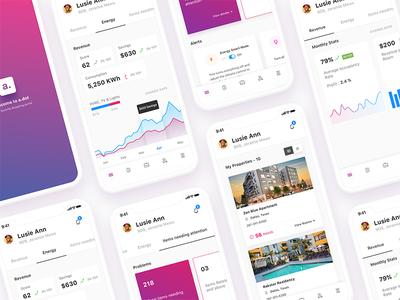 Hotel Management Dashboard iPhoneX hotel dashboard booking charts menu notification iphonex app analytics data visualization admin automation
