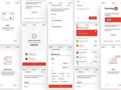 Countingup banking app screens