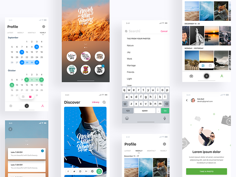 iphoneX project calendar profile ios graphic overlay versus photo edit login mockup iphonex bible app bible
