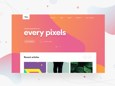 Landing page + 30k + Gift for you social photo capture fruits colors ui mobile subscribe split screen website webdesign landing page