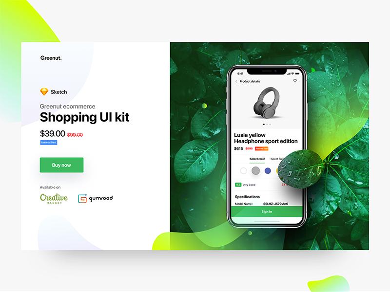 e-commerce app UI Kit ui kit app ecommerce ui kit ecommerce ios app ecommerce app iphonex shopping ui kit shopping app product page cards