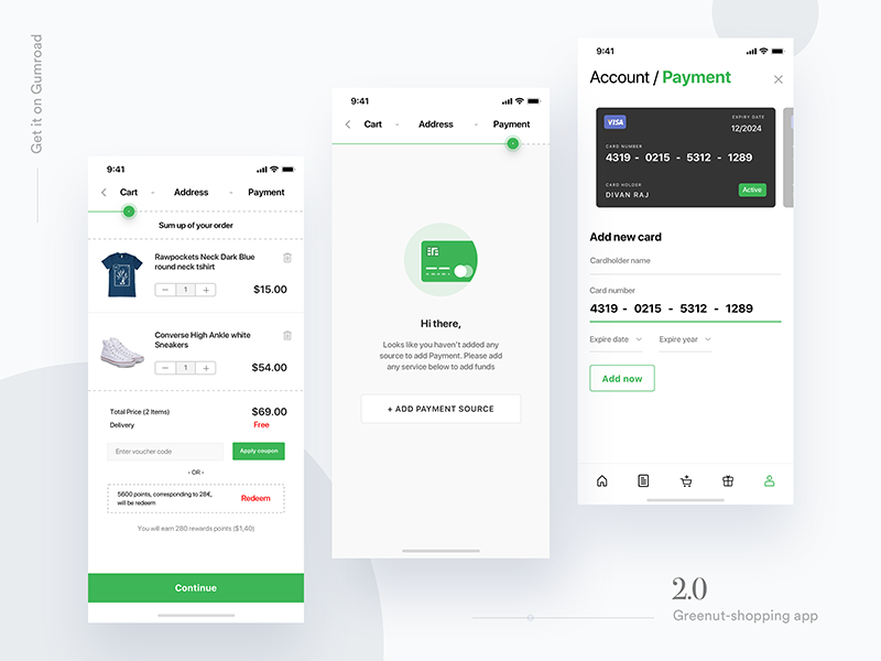 e-commerce shopping app UI Kit - 70 screens - Download iphonex ecommerce app ecommerce ios app ecommerce ui kit ui kit app