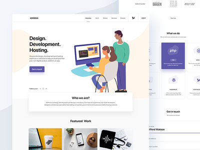 Landing page landing page responsive design mobile responsive developer hosting illustration homepage marketing page coding guy mobile ui design ui design freelance