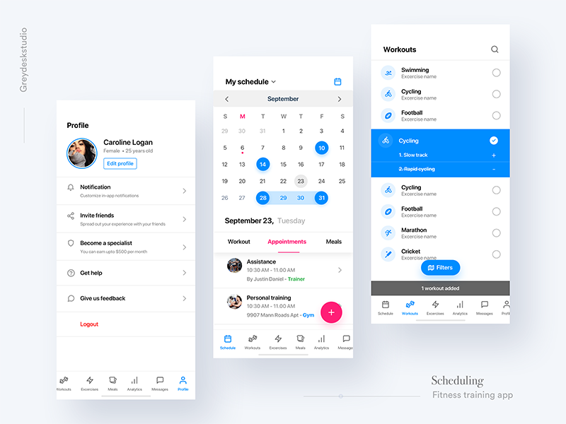Fitness scheduler