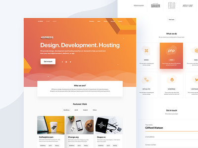 Landing Page freelance ui design mobile ui design coding guy marketing page homepage illustration hosting developer mobile responsive responsive design landing page