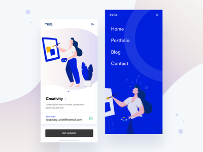 Mobile Landing Page Designs Themes Templates And Downloadable Graphic Elements On Dribbble