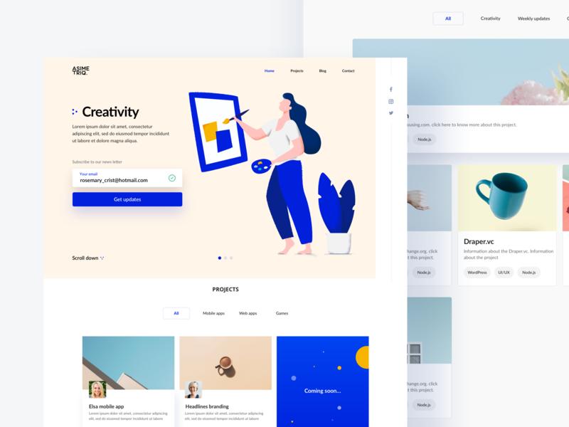Landing page branding webdesign ui icon design logo typography vector website landing page illustration