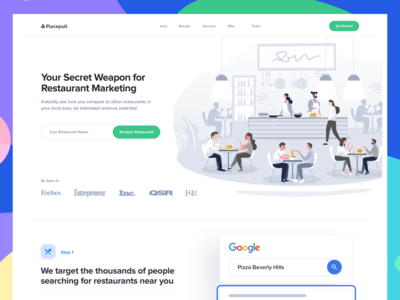 Placepull Landing page - Live