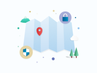 Enable location services tracking illustration location