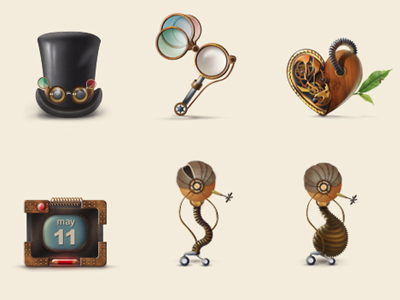Steampunk iconset