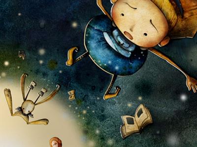 Alice In Wonderland book illustration kid retro roabee alice