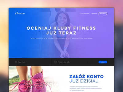 Gymrank - ranking of fitness clubs michanczyk michal enlive design workout gym webdesign layout sport website fitness