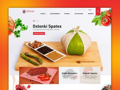 Foooody web health trading layout webdesign market food design enlive michal michanczyk