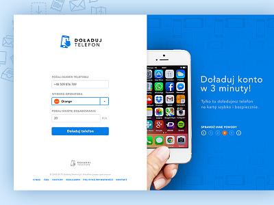 Mobile Recharge poland enlive michanczyk michal design web app racharge page landing website mobile