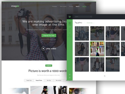 Imagpic - your app for ads enlive michanczyk michal webdesign apps app page landing tags screenshots pictures images