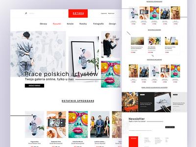sztuka electronics page main listing user interface ui webdesign art museum store shop ecommerce