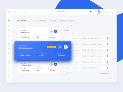 Datamonitor - 1st screen ui ux web webdesign chart data saas software app dashboard