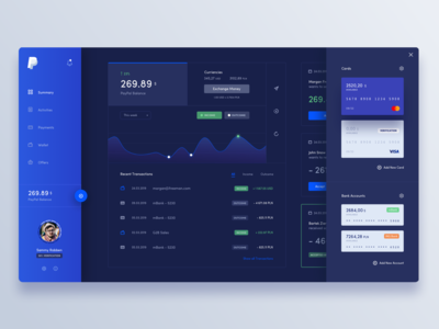 Dark PayPal Redesign Concept
