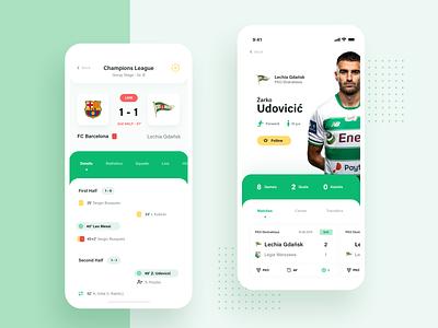 Check Scores App 2 design mobile app mobile design application soccer football scores24 user interface design user experience user interface movade ux dashboard ui app