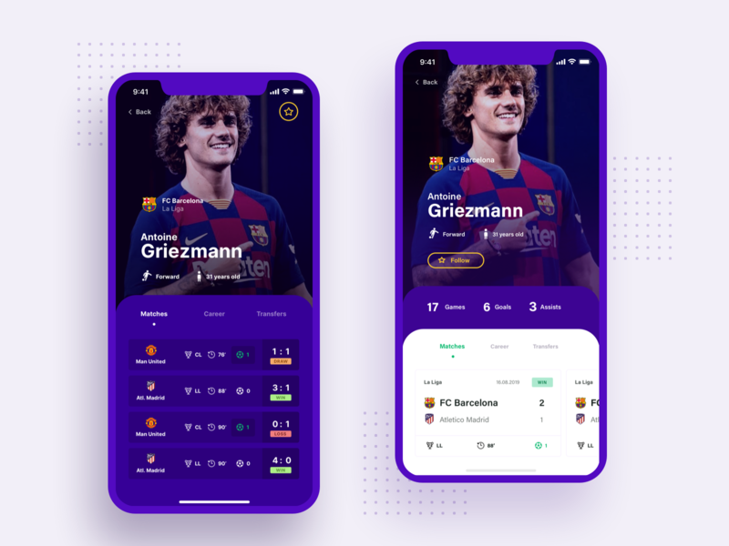 Check Scores App - dark mode football club scores livescore soccer football user experience user interface dashboard ux ui app