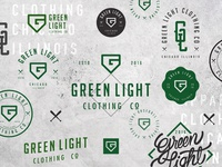 Green Light Badges illustration typography brand identity logo mark graphic design logo design brand behance branding logo