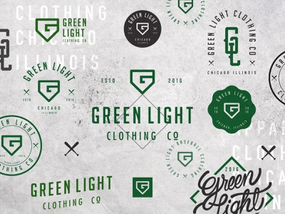 Green Light Badges illustration typography brand identity logo mark graphic design logo design brand behance branding logo