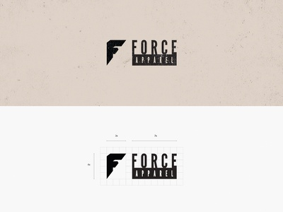 Force Apparel Logo Brand logo grid apparel grid icon logo mark brand identity behance graphic design logo design branding brand logo