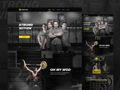 Crossfit Website fitness logo ui daily ui design ux ui web design branding landing page website crossfit