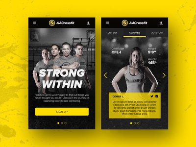 CrossFit Mobile Site branding logo crossfit fitness behance web app ux design ui responsive mobile