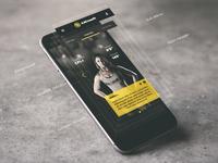 Crossfit App UI iPhone mockup