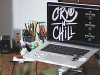 Cryo n Chill Type miami cryo logotype type brand typography design brand identity branding behance logo