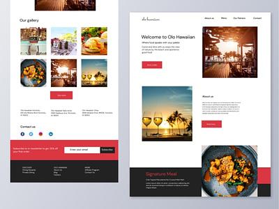 Restaurant webpage restaurant e-commerce website ux ui design