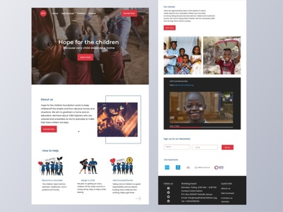 NGO Website illustration ui webdesign charity non-profit