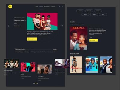 TV App ux design ui dailyui website tv app