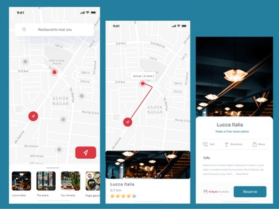 Map interface vector ui location maps