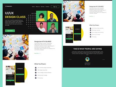 Design Class design website ui