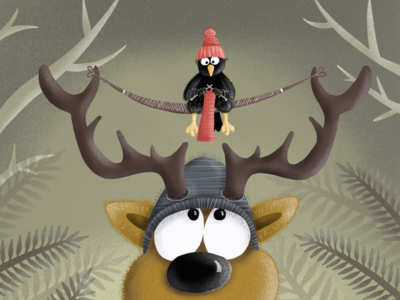 The deer and the knitting raven
