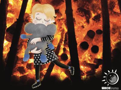 Australia is burning by WACHtraum Illustration Danja K.
