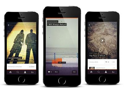Soundcloud for iPhone audio mobile interface app design music iphone soundcloud