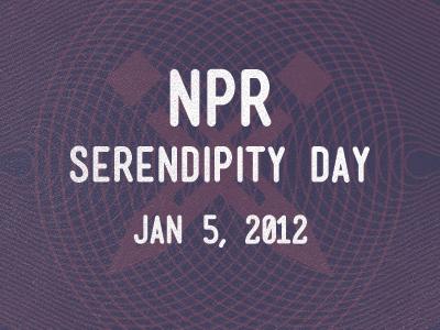 Npr Serendipity Day Button npr 1950s science technology news serendipity day retro texture