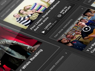 NPR Music iPad App npr music npr music ipad mobile app design interface ux ui visual design music player audio player