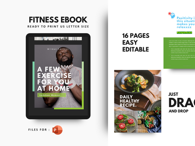 Daily fitness at your home in this covid19 moment art minimal flat clean ux ui fitness motivation presentation template powerpoint template ebook gym fitness center covid19 coronavirus corona