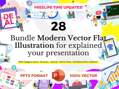 Free vector flat illustration for presentation minimal landing pages ux flat clean ui presentation template powerpoint template free freebies flat design flat illustration vectors vectorart vector illustration