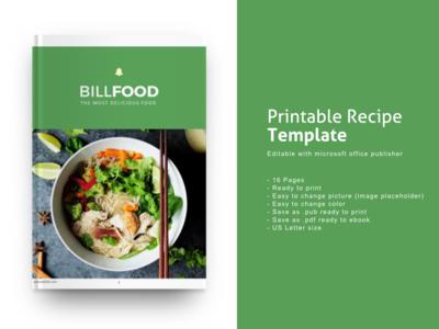 Recipe Ebook Template Editable Using Microsoft Publisher