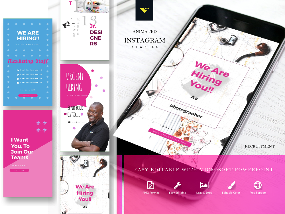 Instagram Story Template Easy Editable With Powerpoint By Rivat Fauzi On Dribbble