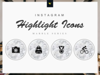 Instagram Highlight Cover Icons 190 Set Marble Series