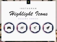 Instagram Highlight Cover Icons 190 Set Galaxy Series