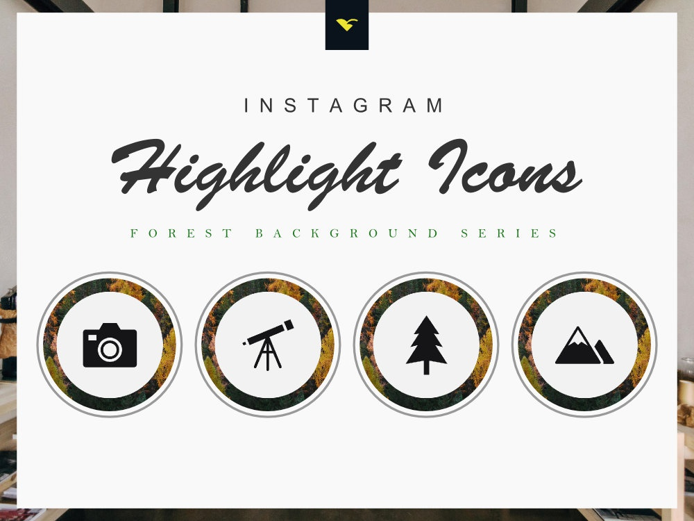 Instagram Highlight Cover Icons 190 Set Forest Series by